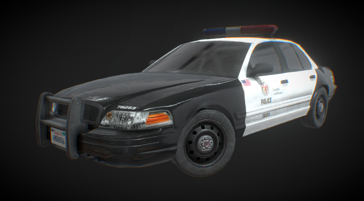 Ford Crown Victoria Police Interceptor Free 3d Models