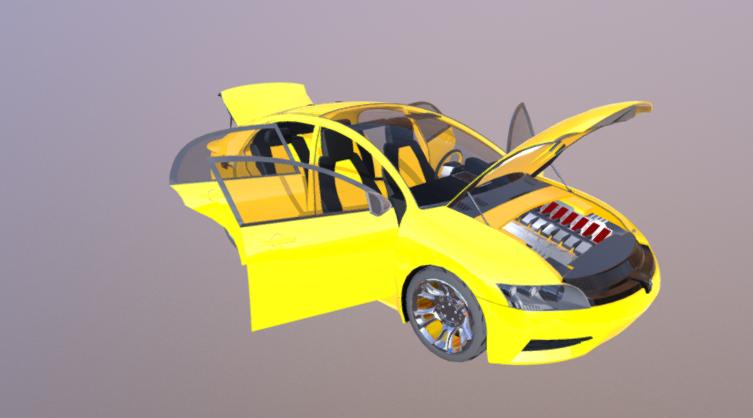 Hybrid Car 3D model