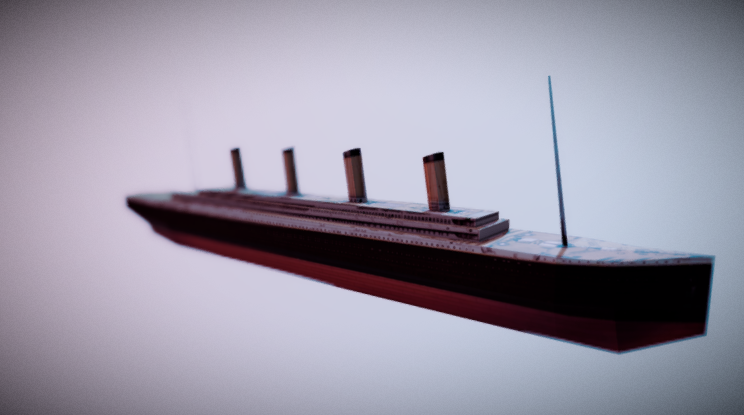 Low Poly Titanic 3D model