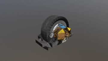 Mono Wheel Drone 3D model