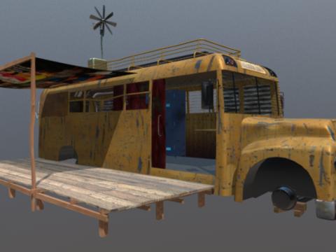 Old Schoolbus 3D model