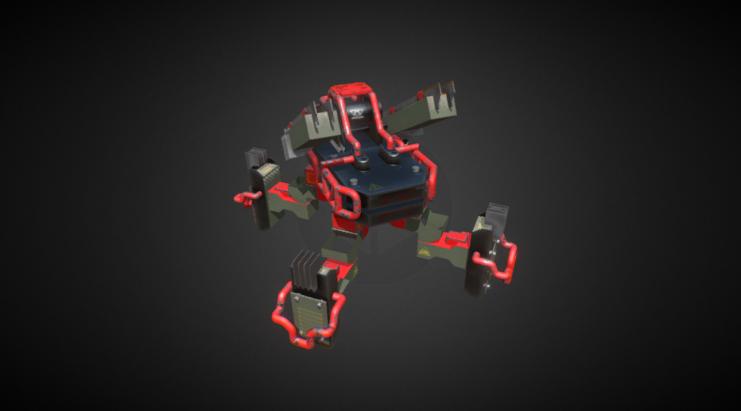 Paper Robot 3D model