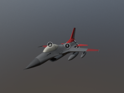 QF-16 Full-scale Aerial Target 3D model