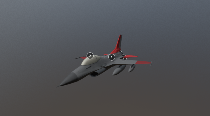 QF-16 Full-scale Aerial Target 3D model