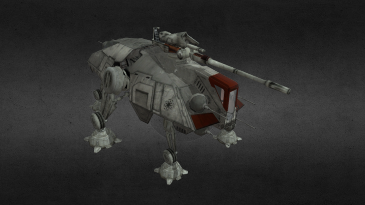 Republic AT-TE Walker 3D model