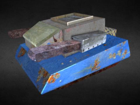 Rusty Enemy Tank 3D model