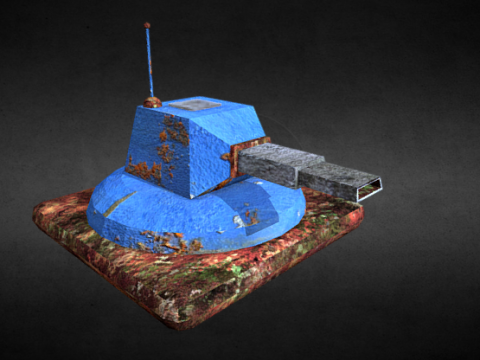 Rusty Turret 3D model