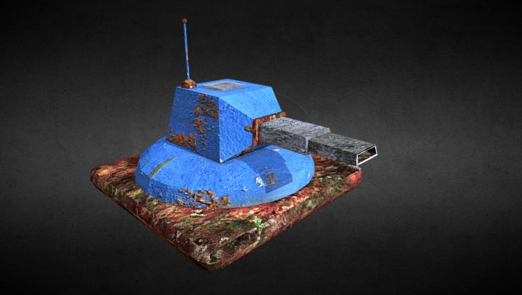 Rusty Turret 3D model