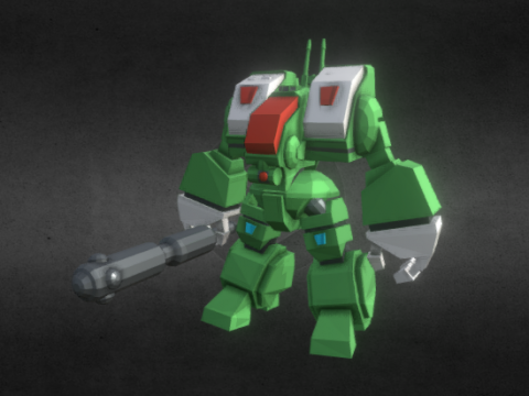 SD Macross Spartan Destroid 3D model