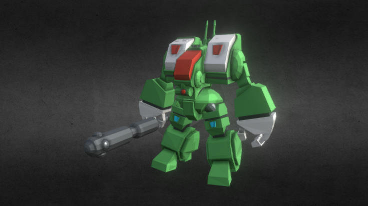 SD Macross Spartan Destroid 3D model