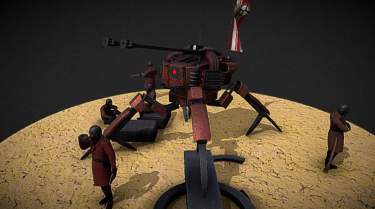 Sci-fi Artillery 3D model
