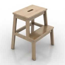 Seat stair IKEA Bekvam 3d model