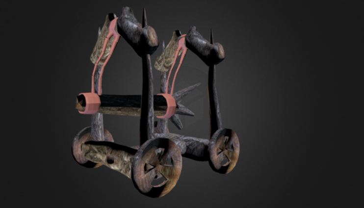 Siege weapon 3D model
