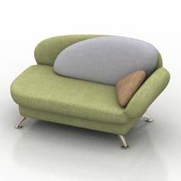 Sofa Valetta Pushe 3d model