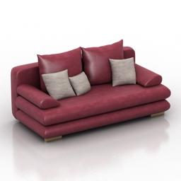 Sofa fabio Pushe 3d model