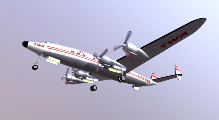 Super Constellation 3D model