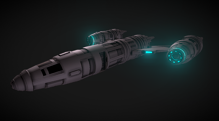 TMP Guardian Starfighter 3D model