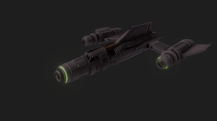 TSS Assault Starfighter 3D model