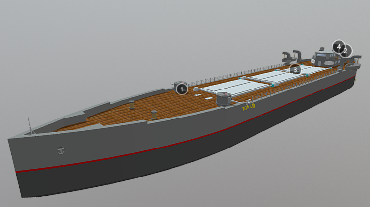 Uig Class Armed Cargo Ship 3D model