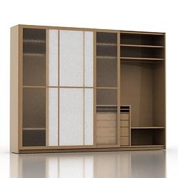 Wardrobe Molteni 3d model