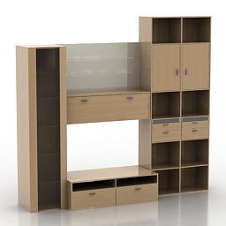 Wardrobe Odalia 3d model