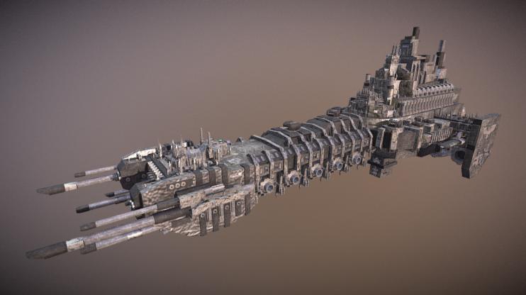Warhammer 40k Battle Barge 3D model