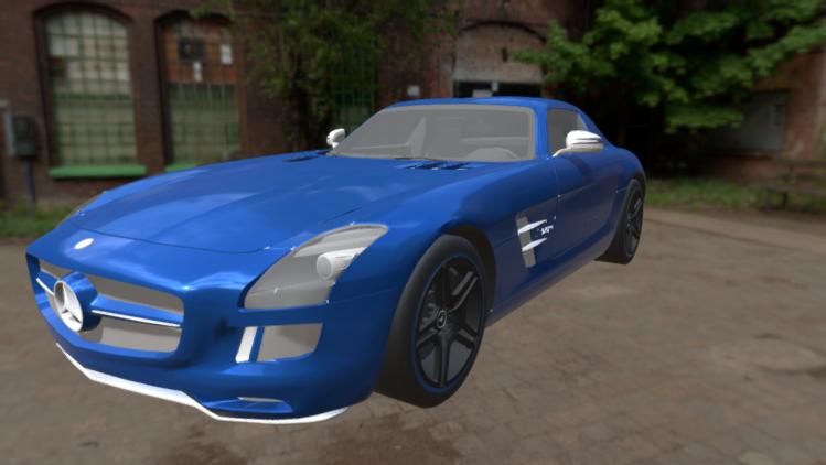 2014 Mercedes-Benz SLS AMG Electric Drive 3D model