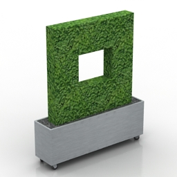 Bush Boxwood-Hedge-Planter Formdecor 3d model