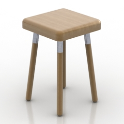 Chair UBIKUBI MARCO Stool 3d model