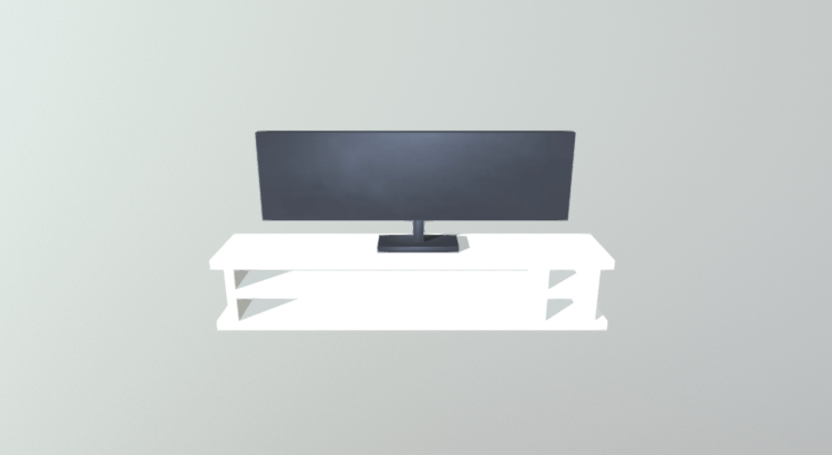 Commode With TV 3D model