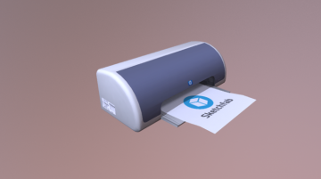 Deskjet Printer 3D model