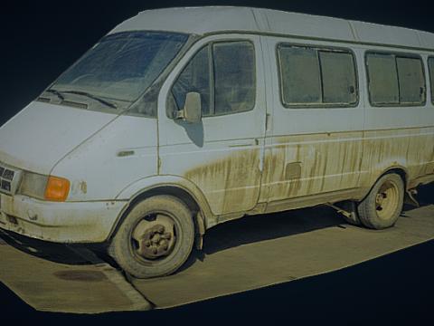 Dirty Minibus 3D model