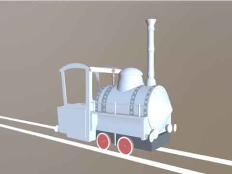 Emma Locomotive 3D model