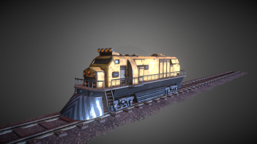 Engine Train 3D model