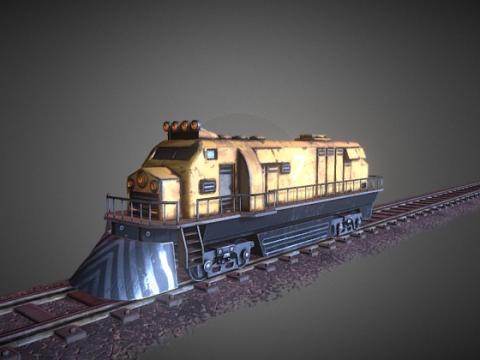 Engine Train 3D model