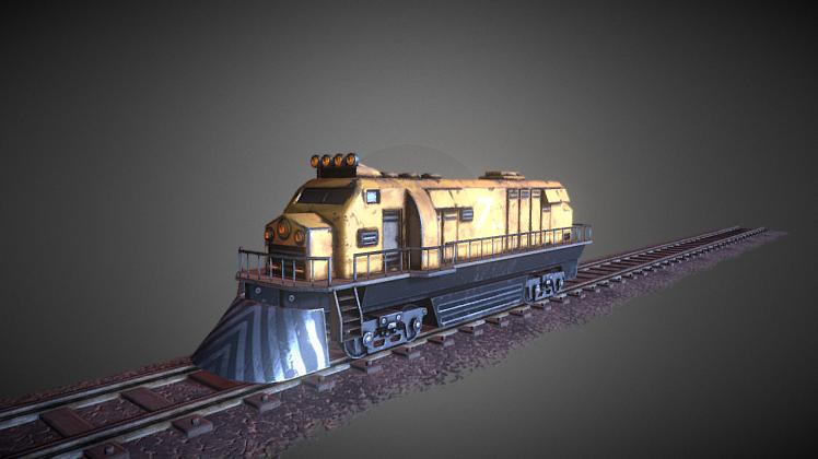 Engine Train   Free 3D models