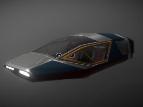 Futuristic Flying car 3D model