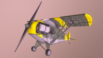 Stylized Airplane: G-BPCF 3D model