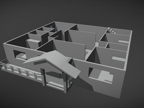 House First Floor 3D model