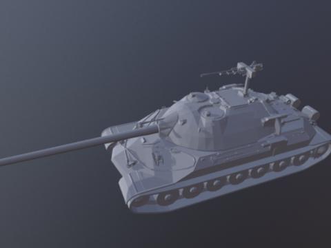 IS7 Tank 3D model