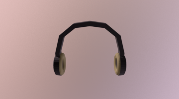 Low Poly Headphones 3D model