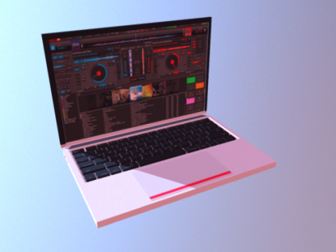 MAC LAPTOP 3D model
