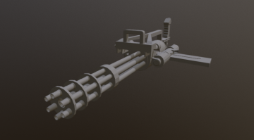 Minigun ECHO low polly 3D model