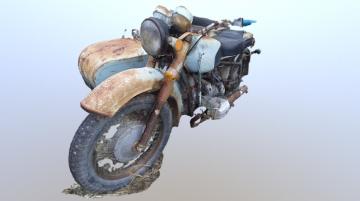 Motorcycle Dnepr 3D model