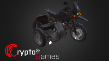 Motorcycle w sidecar 3D model