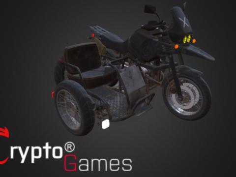 Motorcycle w sidecar 3D model