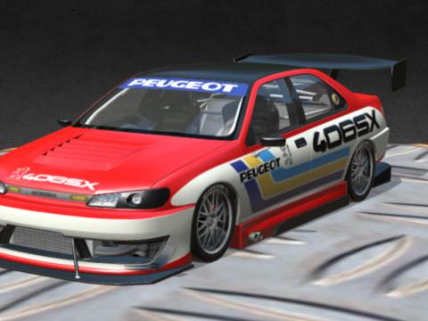 3D Peugeot 406SX model