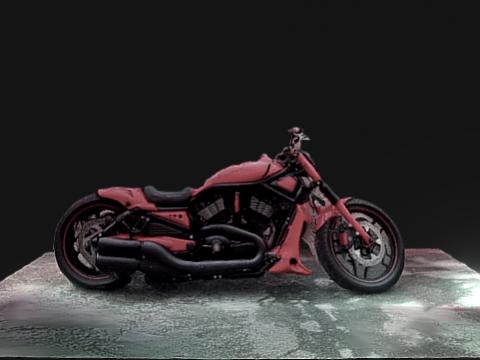 Red Harley-Davidson V-Rod 3D model