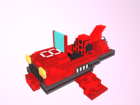 Red Race Hover 3D model