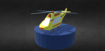 Rescue Helicopter 3D model